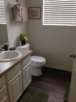 Bathroom Between Queen and Mickey/Minnie Twin Bedrooms